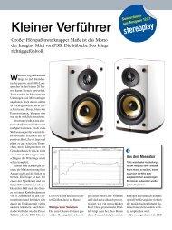Stereoplay 12/2011: Imagine Mini - PSB Lautsprecher Deutschland