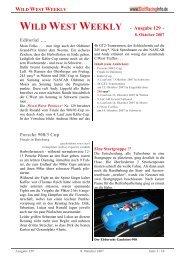WILD WEST WEEKLY - Ausgabe 129 - Editorial ... - Rennserien-West