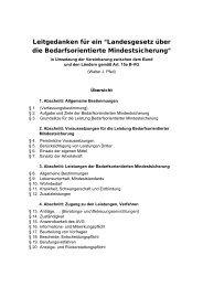 Entwurf Umsetzung Mindestsicherung - Salzburger Armutskonferenz