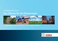 Wahlprogramm 2012 - Bernhard Tenhumberg