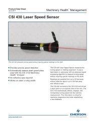 CSI 430 SpeedVue - Emerson Process Management
