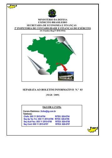 Separata 31 Mar 09 - 2ª ICFEx - Exército Brasileiro