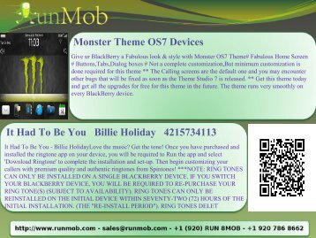 Monster Theme OS7 Devices It Had To Be You Billie ... - RunMob