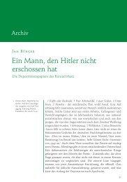 Jan Bürger: Ein Mann, den Hitler nicht erschossen hat. Die ...