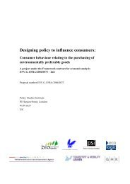 Designing policy to influence consumers: - Policy Studies Institute