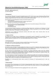 Allgemeine Geschäftsbedinungen PSL AG - lighting solutions (PDF)