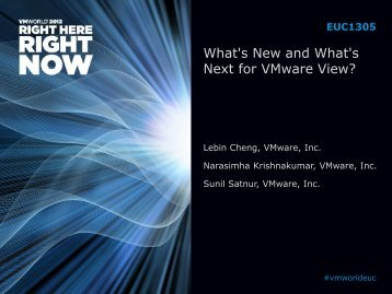 What's New and What's Next for VMware View?