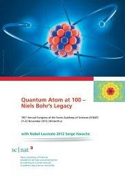 21-22.11.13 - Quantum Atom at 100 – Niels Bohr's Legacy