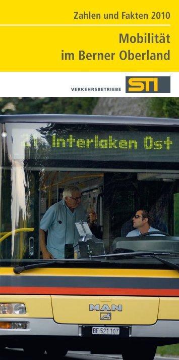 Mobilität im Berner Oberland - Verkehrsbetriebe STI