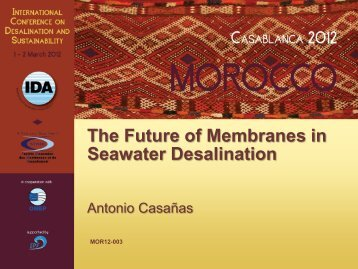 The Future of Membranes in Seawater Desalination - emwis