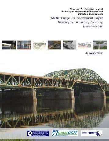 fhwa fonsi - Whittier Bridge/I-95 Improvement Project