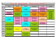 Belegungsplan WS 2010-011