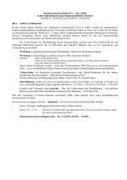 Aufruf zum Mitmachen - Seminar für Mathematik und ihre Didaktik