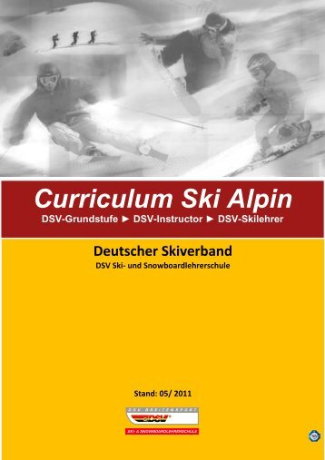 Curriculum Ski Alpin - Deutscher Skiverband