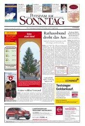 Rathausbund droht das Aus - Potsdamer Neueste Nachrichten