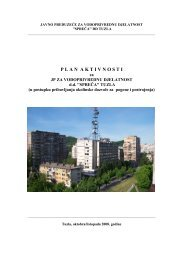 Plan aktivnosti SPREČA - Federalno ministarstvo okoliša i turizma
