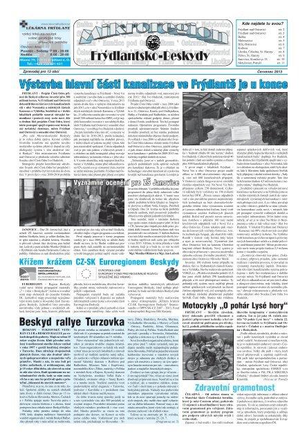 Frdlantsk noviny jen 2019 - Frdlant nad Ostravic
