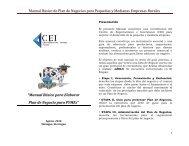 Manual Básico de Plan de Negocios para Pequeñas y ... - CEI