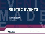 Download presentation - Restec Events
