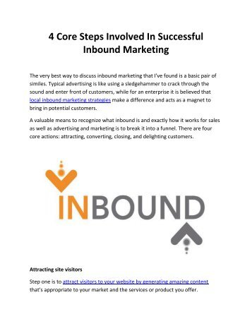 4 Core Steps Involved In Successful Inbound Marketing