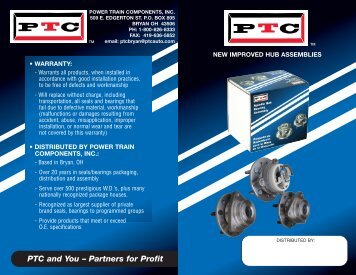 View Brochure - Power Train Components