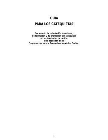 Guía para los catequistas - Iglesia Católica Conferencia Episcopal ...