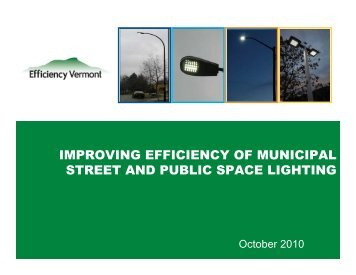 improving efficiency of municipal street and public space lighting