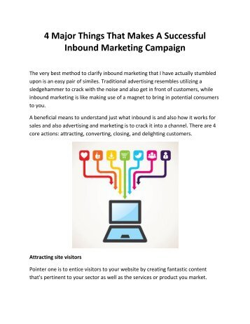 4 Major Things That Makes A Successful Inbound Marketing Campaign