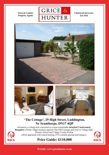 Price Guide: £110000 'The Cottage', 29 High Street ... - Grice & Hunter