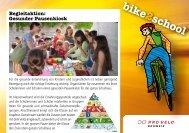 Gesunder Pausenkiosk - Bike2school