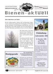 bienen-aktuell Nr. 44.pmd - Liechtensteiner Imkerverein