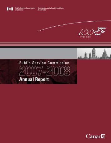 Publlic Service Commission 2007-2008 Annual Report