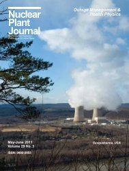 May-June 2011 - Digital Versions - Nuclear Plant Journal