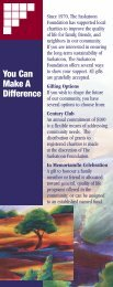 You Can Make A Difference - Saskatoon Community Foundation