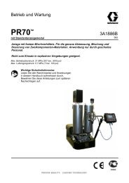 3A1886B, PR70 with Standard Display Module ... - Graco Inc.