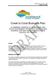 Creek to Coral Business Plan - Townsville State of the Environment ...