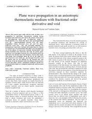 Plane wave propagation in an anisotropic thermoelastic medium ...