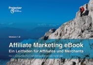Affiliate Marketing eBook Ein Leitfaden für Affiliates und ... - Projecter