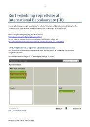 Kort vejledning i oprettelse af International ... - Optagelse.dk