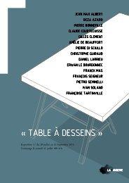 « TABLE à DESSEINS » - Le Lieu du Design
