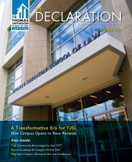 The Declaration - Spring 2011 - Thomas Jefferson School of Law