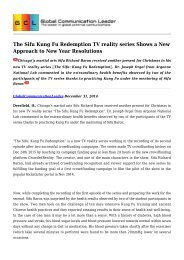 The Sifu Kung Fu Redemption TV reality series Shows a New Approach to New Year Resolutions