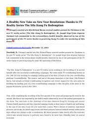 A Healthy New Take on New Year Resolutions Thanks to TV Reality Series The Sifu Kung Fu Redemption