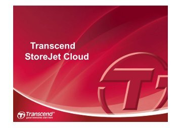 Transcend_StoreJet Cloud_Zusatzinformationen.pdf - PR Agentur ...