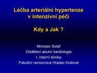 Léčba hypertenze v intenzivní péči