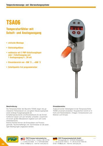 und Analogausgang - PKP Prozessmesstechnik GmbH