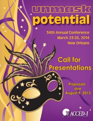 Call for Presentations - ACCED-i