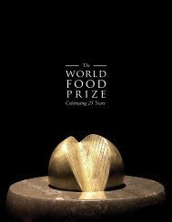 Celebrating 25 Years The - The World Food Prize