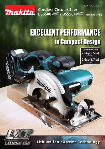 BSS500 / BSS501 Cordless Circular Saw - Makita