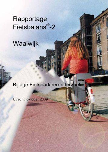Bijlage fietsparkeeronderzoek - Gemeente Waalwijk